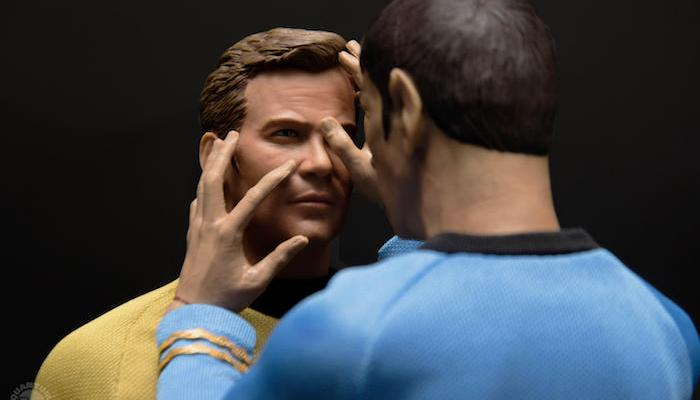 Kirk and Spock action figures