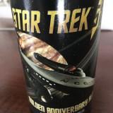 Star Trek beer bottle close up
