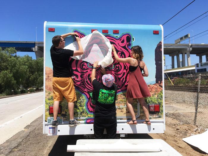 SDCC 2016 Titmouse RV wrap