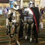Star Wars Celebration Orlando 2017 - 2x Captain Phasma (gold and silver)