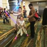 Star Wars Celebration Orlando 2017 - Rey x2 and Finn