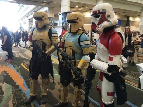 Star Wars Celebration Orlando 2017 - shore troopers and clone