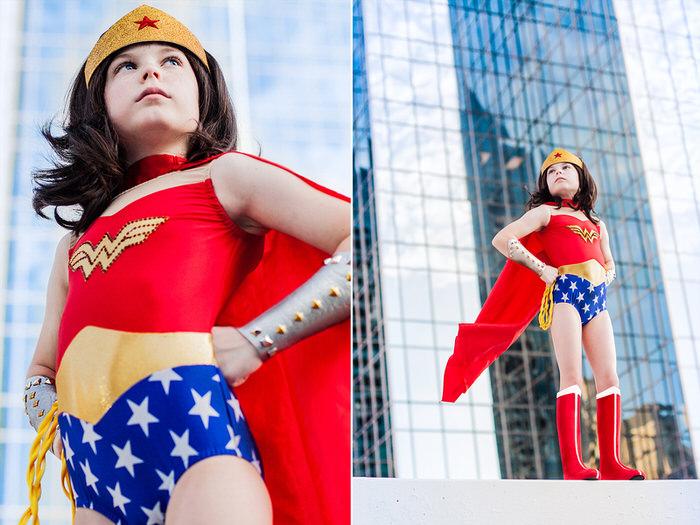 wonder woman cosplay kids