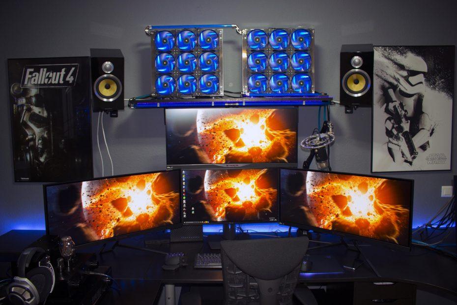 pc gaming battlestation