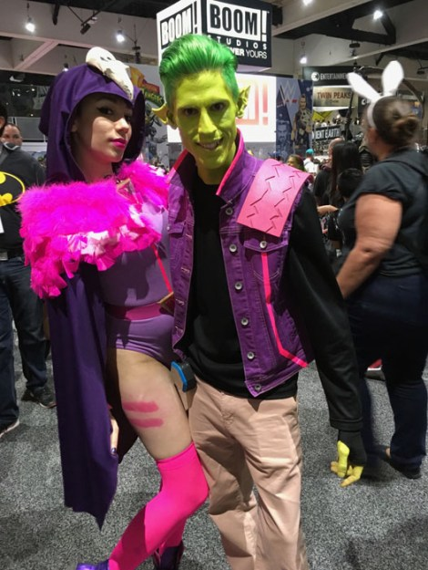 SDCC 2017 - cosplay 80s Raven Beast Boy