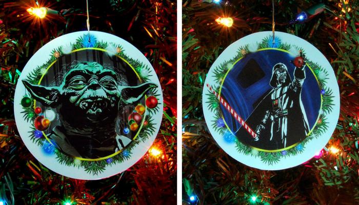 yoda darth vader ornaments