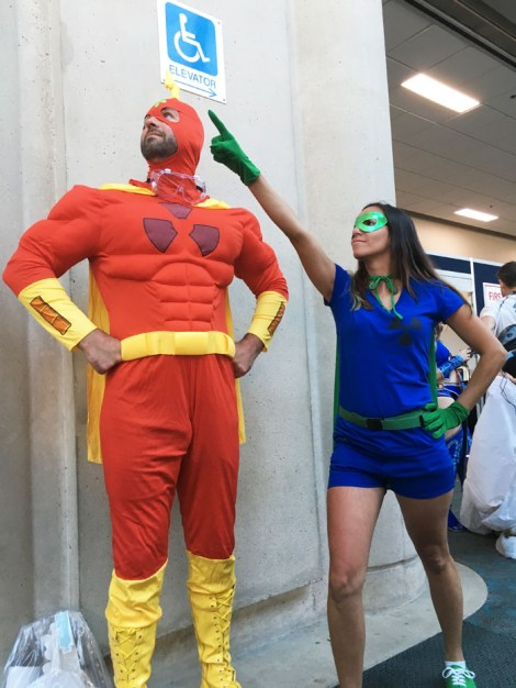 SDCC 2018 - Radioactive Man and Fallout Boy from the Simpsons