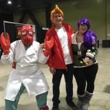 Zoidberg, Fry, and Leela at Long Beach Comic-Con 2018