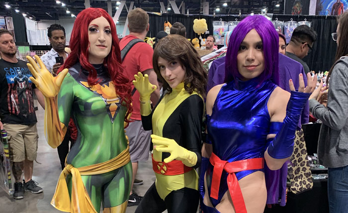 Amazing Las Vegas Comic-Con 2019 - Phoenix, Kitty Pryde, Psylocke of the X-Men
