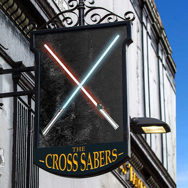 British pub culture Lightsabers