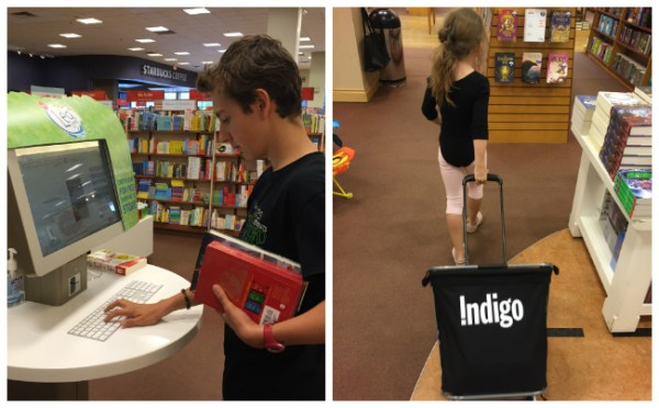 shopping for books at Indigo
