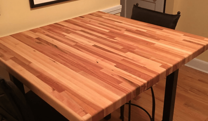 ready made island for kitchen one handed equipment custom cut butcher block countertop | ...