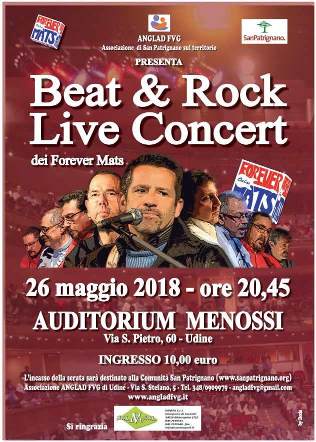 Locandina Concerto epr San Patrignano 26/05/2018