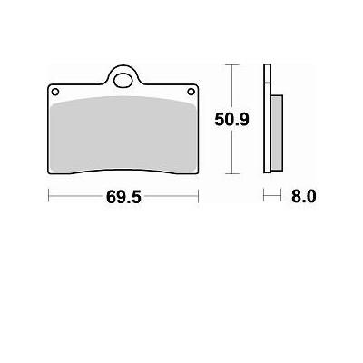 BRAKING 1 coppia pastiglie freno anteriore CM55 per