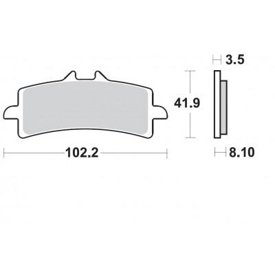 BRAKING 2 coppie pastiglie freno anteriore sinterizzate