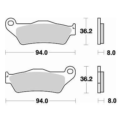 BRAKING 1 coppia pastiglie freno anteriore SM1 per APRILIA