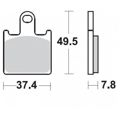 BRAKING 4 coppie pastiglie freno anteriore CM55 per