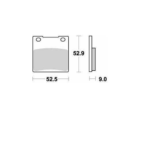BRAKING 1 coppia pastiglie freno posteriore SM1 per SUZUKI