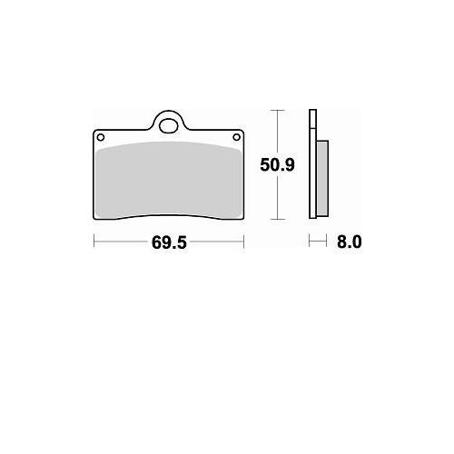 BRAKING 2 coppie pastiglie freno anteriore CM55 per DUCATI