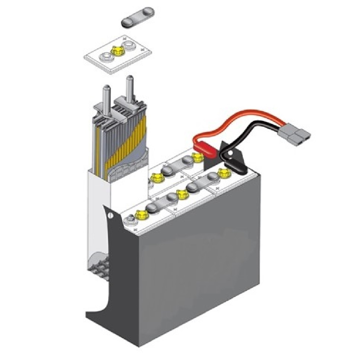 12 125 17 Forklift Battery 24 Volt 1000 Ah At 6 Hr