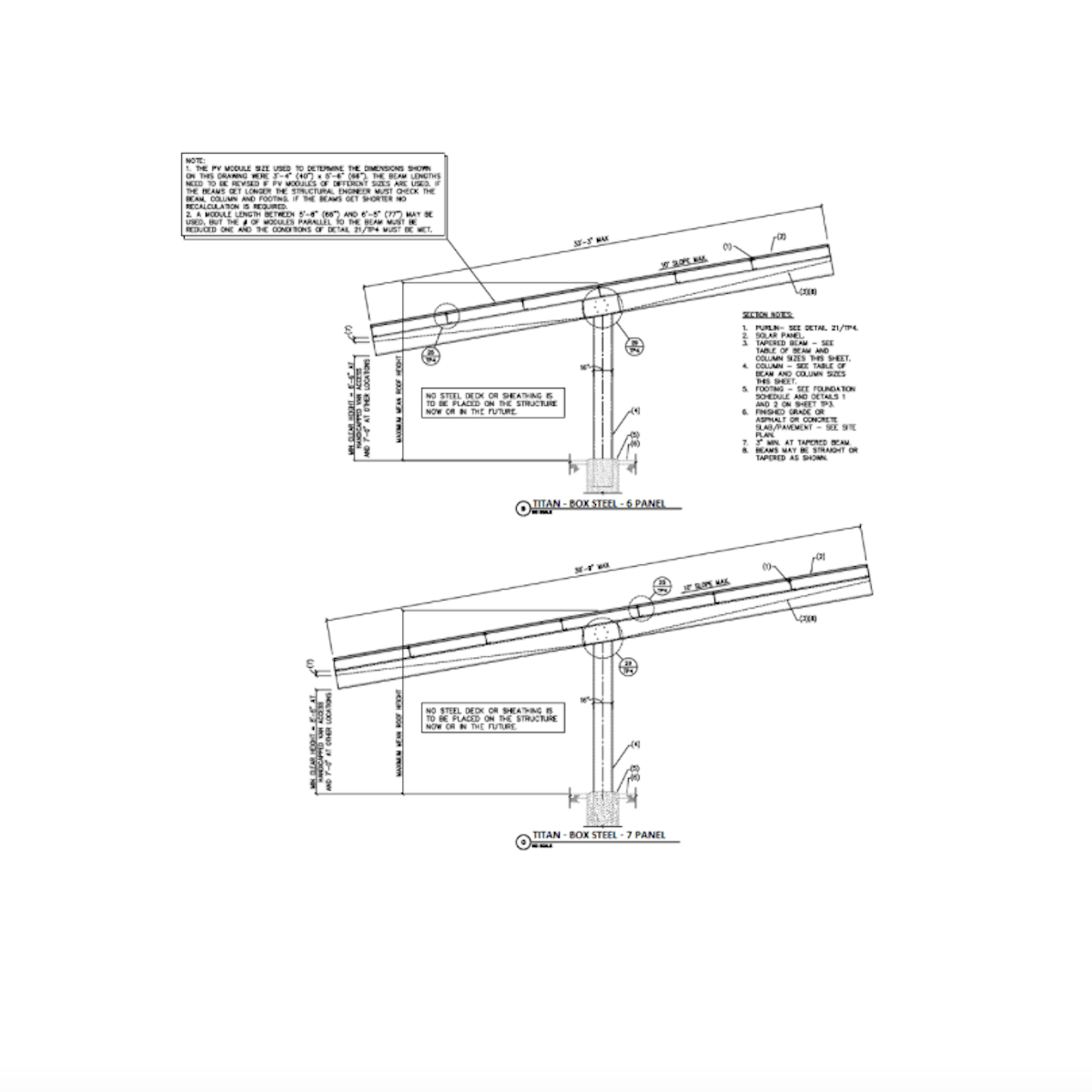 Orion TITAN Double Column, Double Cantilever Solar Carport