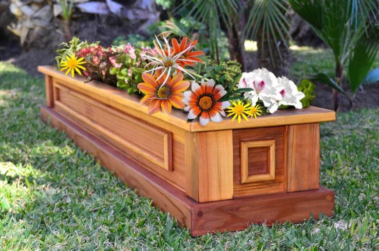 Wooden planter - patio furniture