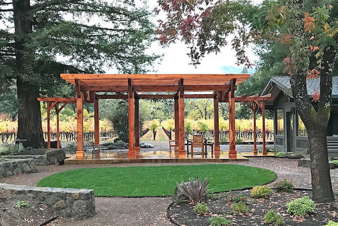 A Redwood Garden Pergola and Memories of a Chilean Childhood