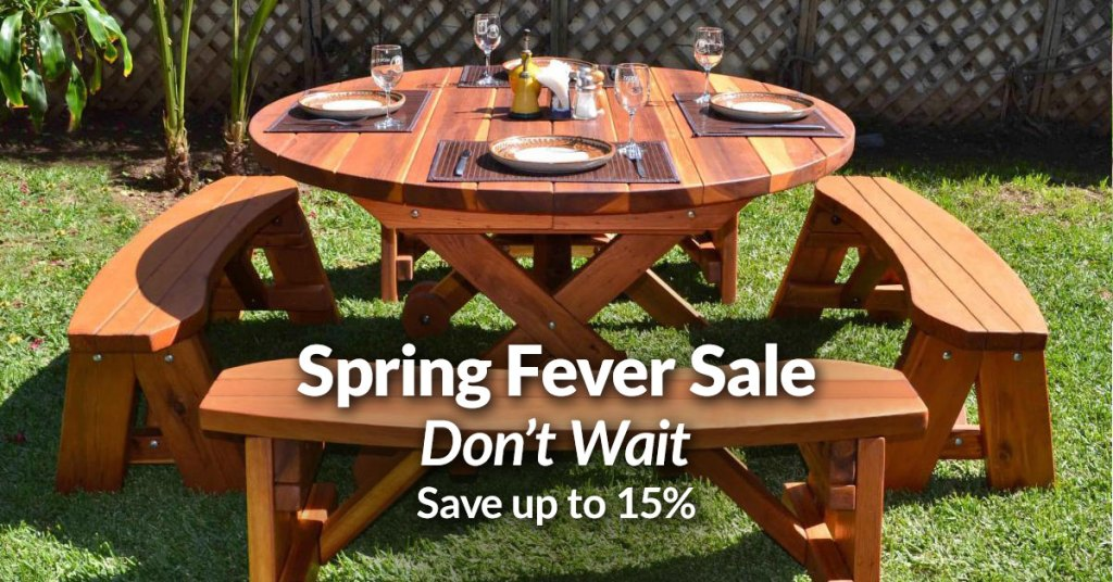 [ENDS SOON] Outdoor Dining Tables, Pergolas, & Pavilions: Save Up to 15%