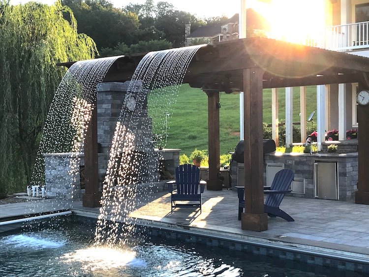 Design Problem Solved: Customizing For A Poolside Waterfall