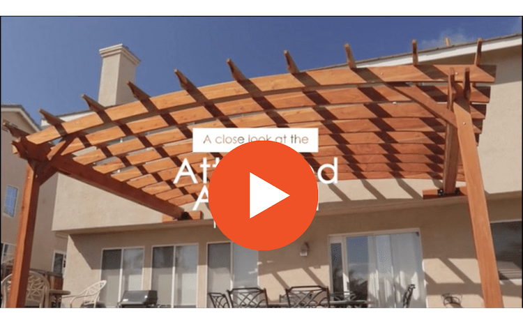 Attached Arched Pergola Video