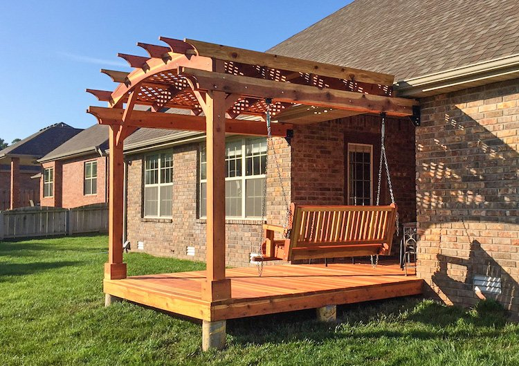 Attached Arched Pergola Kit