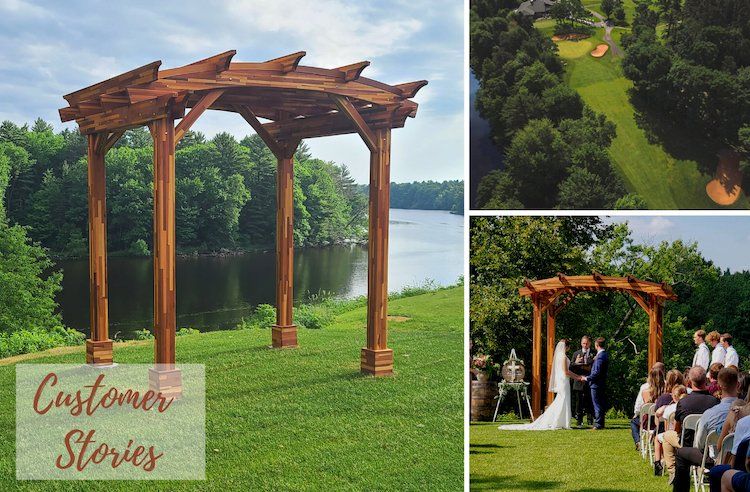 Arched Pergola Helps Usher In New Era For Century-Old Golf Club