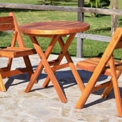 Folding Chair Picnic Table Comfy Outdoor Lounge Chairs Standard Wooden No Assembly Needed