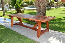 Classic Redwood Patio Table Foreverredwood