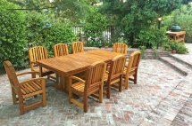 Outdoor Redwood Dining Table Custom Order Tables