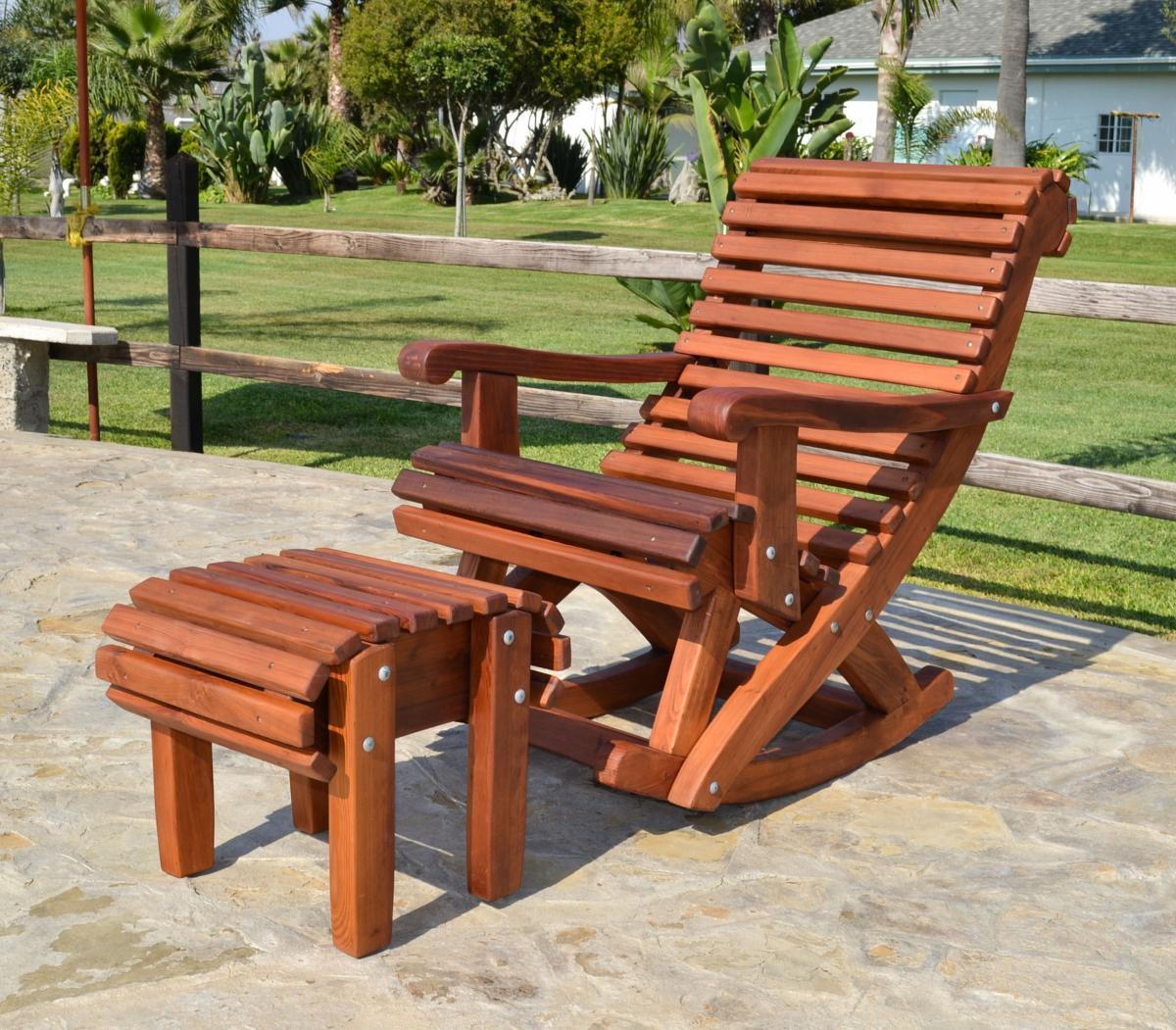 how to make a rocking chair not rock zahara swivel ensenada wooden options standard width old growth redwood no cushion