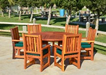 Retro Outdoor Patio Table 1950s Style Wood & Chairs