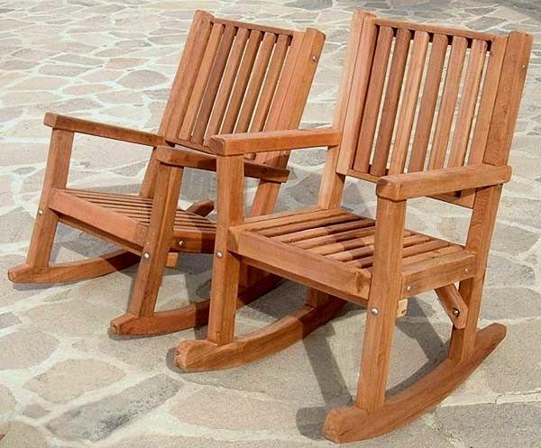 rocking chair rockers covers wedding south wales massive wood custom redwood