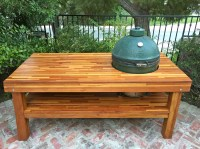 Outdoor Wood Table with Built-in Grill Storage | Forever ...