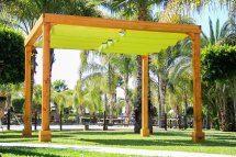Retractable Shade Canopy Pergola Kit Custom Redwood