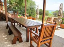 Redwood Patio Table Custom Dining Tables