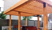 The Silverado Modern Pergola - Forever Redwood