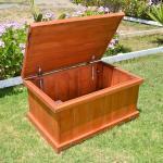 Wooden Storage Bench Forever Redwood