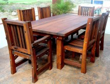 Wood Patio Furniture Table and Chairs