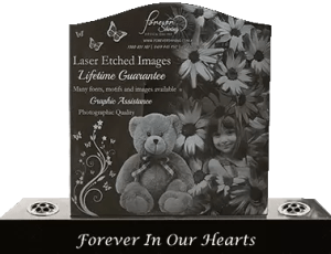 Lasee Etched Headstone - Photo Quality