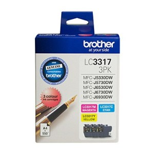 Brother LC3317 CMY Colour Pack