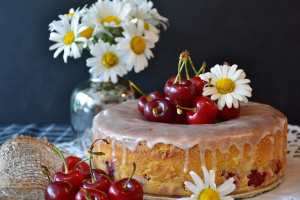 Cherry Cake Wallpaper