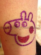 Peppa Pig Glitter Tattoo