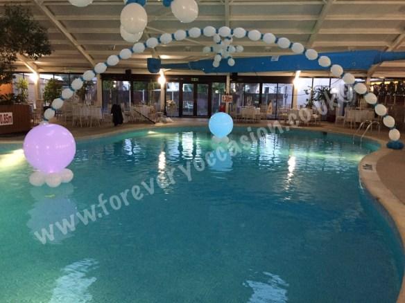 Pool Decor with Super Size Balloon Lites