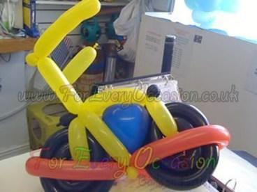 Motorbike Balloon Model